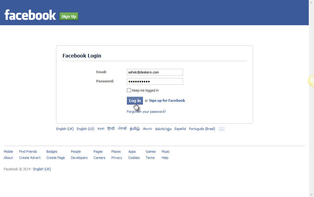 log into facebook facebook - 600×450